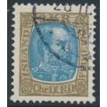 ICELAND - 1904 2Kr olive-brown/blue King Christian IX, used – Facit # 74