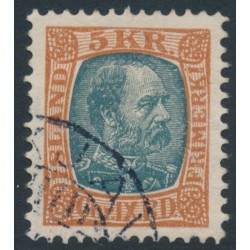 ICELAND - 1904 5Kr red-brown/grey King Christian IX, used – Facit # 75