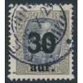 ICELAND - 1925 30aur overprint on 50a grey/slate King Christian IX, used – Facit # 101