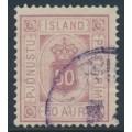 ICELAND - 1895 50a red-purple Numeral, perf. 14:13½, ÞJÓNUSTU (Official), used – Facit # TJ9