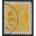 ICELAND - 1873 16 Skilding yellow Numeral, perf. 12½, used – Facit # 7