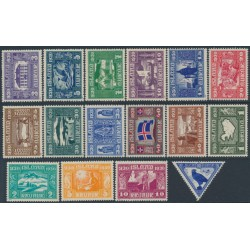 ICELAND - 1930 Anniversary of the Alþingi (Althing) set of 16, MH – Facit # 173-188