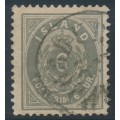 ICELAND - 1896 6a grey Numeral, perf. 12¾, used – Facit # 25