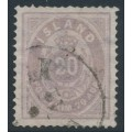 ICELAND - 1876 20a violet Numeral, perf. 14:13½, used – Facit # 14a