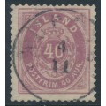 ICELAND - 1882 40a lilac Numeral, perf. 14:13½, used – Facit # 17c