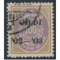 ICELAND - 1902 100a brown/purple Numeral, perf. 14:13½, overprinted Í GILDI '02-'03, used – Facit # 44
