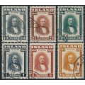 ICELAND - 1944 10a to 10Kr Republic of Iceland set of 6, used – Facit # 268-273