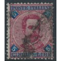 ITALY - 1891 5L blue/rose-red King Umberto I, used – Michel # 59