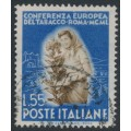 ITALY - 1950 55L ultramarine/brown Tobacco Conference, used – Michel # 804