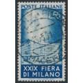 ITALY - 1951 55L blue Milan Fair, used – Michel # 831