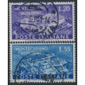 ITALY - 1951 Rebuilding of Monte Cassino set of 2, used – Michel # 837-838