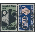 ITALY - 1951 Milan Triennale set of 2, used – Michel # 839-840