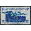 ITALY - 1952 60L dark blue/green-blue Civil Aviation, used – Michel # 869