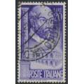 ITALY - 1949 20L violet Andrea Palladino, used – Michel # 781