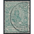 ITALY - 1910 15c+5c green Giuseppe Garibaldi, used – Michel # 98