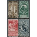 ITALY - 1911 United Kingdom of Italy set of 4, used – Michel # 100-103
