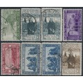 ITALY - 1926 St. Francis of Assisi set of 6 plus extras, used – Michel # 234-239 + 235B + 238B