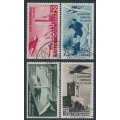 ITALY - 1934 50c to 10L+5L Football World Cup airmail set of 4, used – Michel # 484-487