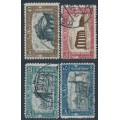 ITALY - 1926 National Militia set of 4, used – Michel # 249-252