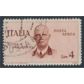 ITALY - 1934 4L red-brown King Victor Emanuel III airmail, used – Michel # 516