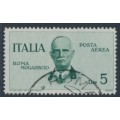 ITALY - 1934 5L green King Victor Emanuel III airmail, used – Michel # 517