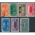 ITALY - 1929 20c to 10L+2L Monte Cassino set of 7, used – Michel # 318-324