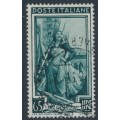 ITALY - 1957 65L deep green Hemp Farming with stars watermark, used – Michel # 983