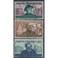 ITALY - 1951 10L to 60L Giuseppe Verdi set of 3, used – Michel # 850-852