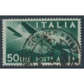 ITALY - 1946 50L deep green Airmail, used – Michel # 713