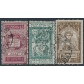 ITALY - 1921 15c to 40c Dante Alighieri set of 3, used – Michel # 141-143