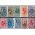 ITALY - 1932 10c to 5L+1L Giuseppe Garibaldi set of 10, used – Michel # 391-400