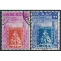 ITALY - 1951 Anniversary of Tuscany (Toscano) Stamps set of 2, used – Michel # 826-827