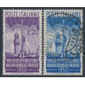 ITALY - 1950 International Radio Conference set of 2, used – Michel # 796-797
