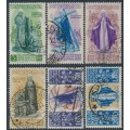 ITALY - 1948 3L to 200L St. Caterina set of 6, used – Michel # 740-745