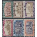 ITALY - 1924 L'Anno Santo (Holy Year) set of 6, used – Michel # 506-211