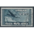 ITALY - 1933 2.25L slate Express Airmail stamp, used – Michel # 435