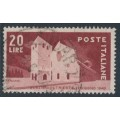 ITALY - 1949 20L brownish red San Giusto Church, used – Michel # 779