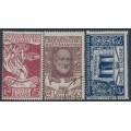 ITALY - 1922 25c to 80c Giuseppe Mazzini set of 3, used – Michel # 157-159