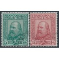 ITALY - 1910 Liberation of Sicily set of 2, used – Michel # 95-96