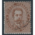 ITALY - 1879 30c deep brown King Umberto I, used – Michel # 41