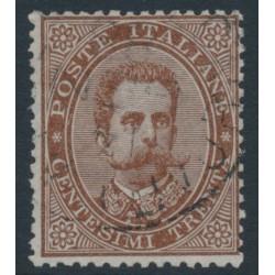 ITALY - 1879 30c deep brown King Umberto I, used – Michel # 41