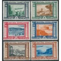 ITALY - 1933 3L to 20L Graf Zeppelin set of 6, MNH – Michel # 439-444