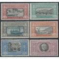 ITALY - 1923 10c to 5L Death of Alessandro Manzoni set of 6, MH – Michel # 188-193