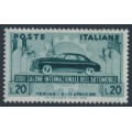 ITALY - 1951 20L olive-green Automobile Salon, MNH – Michel # 828