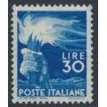 ITALY - 1947 30L ultramarine Torch definitive, MH – Michel # 702A