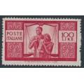 ITALY - 1946 100L carmine Family, perf. 14:14, MNH – Michel # 704A