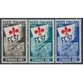 ITALY - 1951 Gymnastics World Games (FG 51) set of 3, MNH – Michel # 834-836