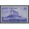 ITALY - 1951 20L violet Ara Pacis, MNH – Michel # 829