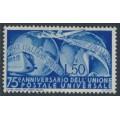 ITALY - 1949 50L ultramarine UPU Anniversary, MH – Michel # 772