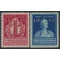 ITALY - 1949 Alexander Volta set of 2, MH – Michel # 784-785